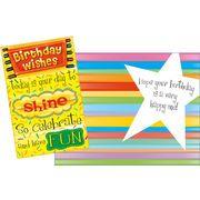 Stockwell Greetings グリーティングカード バースデー メッセージ×星