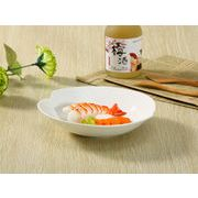 【強化】 深皿(桃形7.5号)  カレー皿/おうちカフェ/白食器