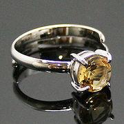 《大きめストーン:フリーサイズ ファッションリング指輪/ファランジリング》 シトリン(Citrine)
