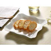 【強化】 盛皿(食卓が華やかになるお洒落な飾り枠付き)(大)   おうちカフェ/フレンチ皿/白食器