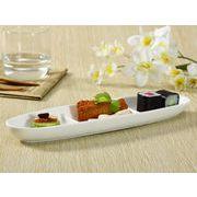 【強化】 盛皿(楕円型三つ仕切り)  楕円皿/前菜皿/おうちカフェ/白食器