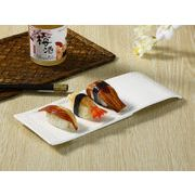 【強化】 長皿(11号長方形)  おうちカフェ/寿司皿/すし皿/さんま皿/白食器