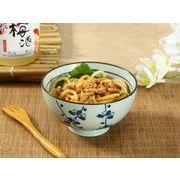 【強化】 4.5号ご飯茶碗(青い梅の枝)    おうち料亭/茶碗/お茶漬け/ごはん茶碗/