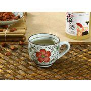 【強化】 コーヒーカップ(赤い椿)(150ml)   コップ/カップ/和食器