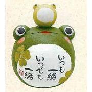 【ご紹介します!信頼の日本製!ほっこりかわいい縁起物!ちぎり和紙ぽっちゃり親子かえる!】