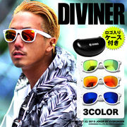 ★完売再入荷★【DIVINER】ホワイトフレームミラーサングラス/眼鏡 メガネ ミラーレンズ