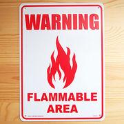 アメリカン雑貨 看板 プラスチックサインボード 注意可燃エリア Warning Flammable Area CA-22