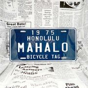 好きな文字にできるアメリカナンバープレート(大・US車用サイズ)ハワイ・自転車タグ-青