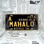好きな文字にできるアメリカナンバープレート(大・US車用サイズ)ハワイ・自転車タグ-黒