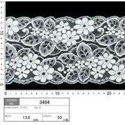 【メーカー直販】★レース巾13.8cm かわいい丸い花柄のレース 5m~/オフ白