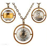 ■懐中時計■  機械式手巻ネックレス時計  ガラス球体