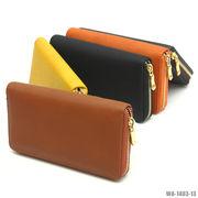 在庫限り【ラウンドファスナー長財布】リザード型押しPU財布☆人気商品♪