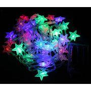 【自社工場】 イルミネーション 電池式 LED ライト クリスマス  五芒星 クリスマス装飾品