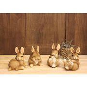 【春の大感謝祭セール!】【ラビット 4個セット】ウサギ雑貨