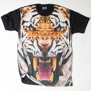 Ryll サブリメーション プリントTシャツ ポリゴン タイガー