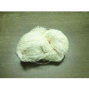 シルク糸(絹糸) twist fancy yarn ビスコース加工 生成り