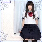 ■送料無料■膝下プリーツスカート単品 色:無地紺 サイズ:M/BIG