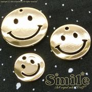 "★L&A Original Parts★K16GP★Gold color★ニコちゃんチャーム♪165 ""Gold Smile"""