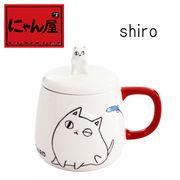「にゃん屋」★猫3兄弟バラエティカップ shiro(1個箱入り)