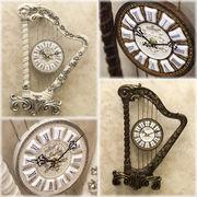 【壁掛時計】ビクトリアンパレス ウォールクロック★ハープ S♪