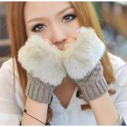 冬季新作★ニット 指だし 手袋★暖かい★