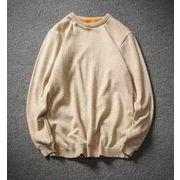 秋冬メンズ無地セーター 裏起毛 カジュアル大きいサイズ 防寒♪全5色