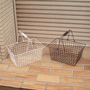 店内カゴとしても人気なワイヤーバスケット【ワイヤーバスケット・L】