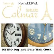 METRO Day and Date Wall Clock ・ ウォールクロック