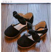 ベルクロ 児童 春 新しいデザイン 靴 韓国風 女児 靴 少女 靴 リボン 王女 革靴