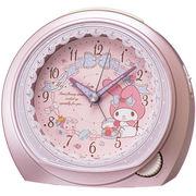 SEIKO セイコー 目覚まし時計 マイメロディ アナログ ピンクメタリック CQ143P