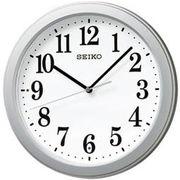 SEIKO セイコー 掛け時計 電波 アナログ コンパクトサイズ 銀色メタリック KX379S