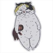 《コレクション》世にも不思議な猫世界 クロス素材ステッカー/うららたん KORIRI