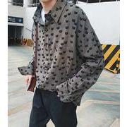 新作メンズワイシャツ 長袖トップス おしゃれ カジュアル♪ダークグレー/ライトグレー/イエロー3色