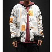秋冬新作メンズコート ジャケット トップス大きいサイズ おしゃれ♪ブラック/ホワイト2色