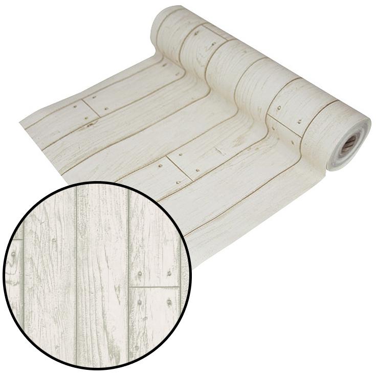 はがせるシール壁紙 ウォールデコシート【30m巻】白っぽいベージュがおしゃれな木目柄【DWP-10】