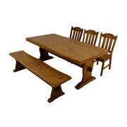 【離島発送不可】【日付指定・時間指定不可】浮造りテーブル(135cm・180cm)ベンチ(120cm・165cm)チェア