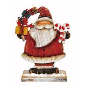 <AMANO>【クリスマス】【木製オブジェ】木製スタンド・サンタ