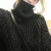 2019 秋 冬 韓国 スタイル ファッション レディース トップス ゆったり 長袖 ニット セーター プルオーバー