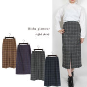 □■SALE■□ツイードチェックタイトスカート(27880)