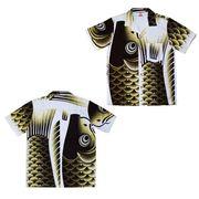 日本製 made in japanアロハシャツ 黒 L 箔無 178173
