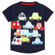 北欧柄 キッズ 半袖Tシャツ 車