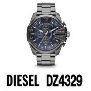 【まとめ割10%OFF】DIESEL ディーゼル 腕時計 DZ4329 メガチーフ クロノグラフ / ブルー ガンメタル