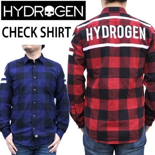 ☆50% OFF☆【HYDROGEN】(ハイドロゲン) CHECK SHIRT / 長袖 チェック ネル シャツ 2色