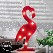 LED インテリアライト フラミンゴ 電球色 ピンク 電池式 テーブルランプ スタンドライト おしゃれ