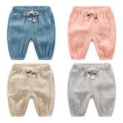 マイナス 単一色 五分パンツ 夏服 新しいデザイン 男児 キッズ洋服 児童 伸縮性 ブル