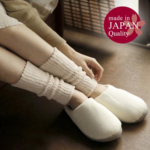 日本製・絹&綿レッグウォーマー 23cm丈