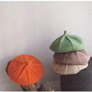 子供帽子 ベレー帽 秋冬 ニット帽 ファション 13色 子供ハット 可愛い帽子