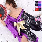 1090ツートンカラー孔雀柄着物ドレス 和柄 衣装 ダンス よさこい 花魁 コスプレ キャバドレス