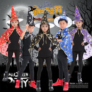 ハロウィン 万聖節 cosplay コスプレ 子供用 巫女  キッズ服 マント+帽子 衣装 万聖節