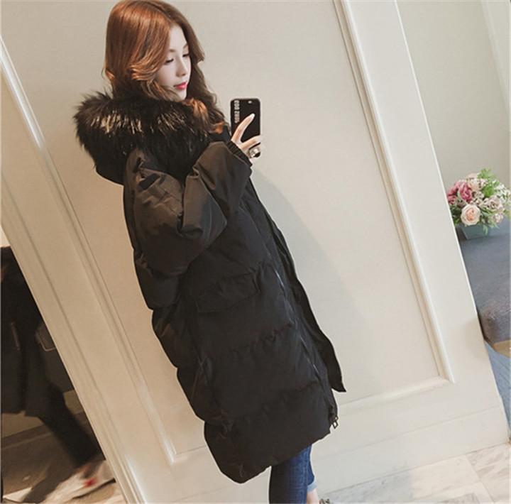 ダウンコート INSスタイル カジュアル  ミディアムロング ファッション コート  ゆったりする コットン